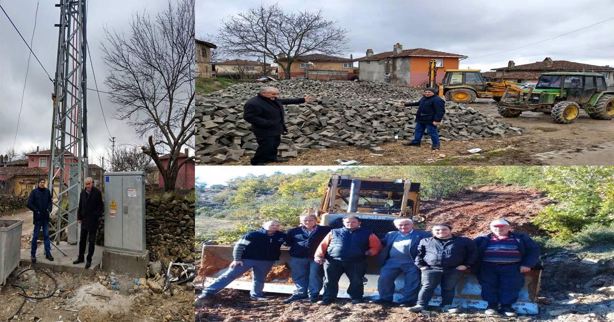 Köy Muhtarımız Nurettin Çetin ve Ekibi Çalışmalarını Sürdürüyor.